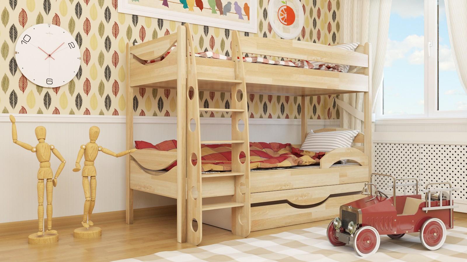"""Двухъярусная кровать """"Эни-Бэни"""" KDEDUBU детская для мальчиков и девочек детей от 2-3 лет"""