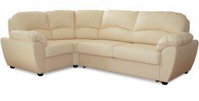 Угловой кожаный диван-кровать Милена