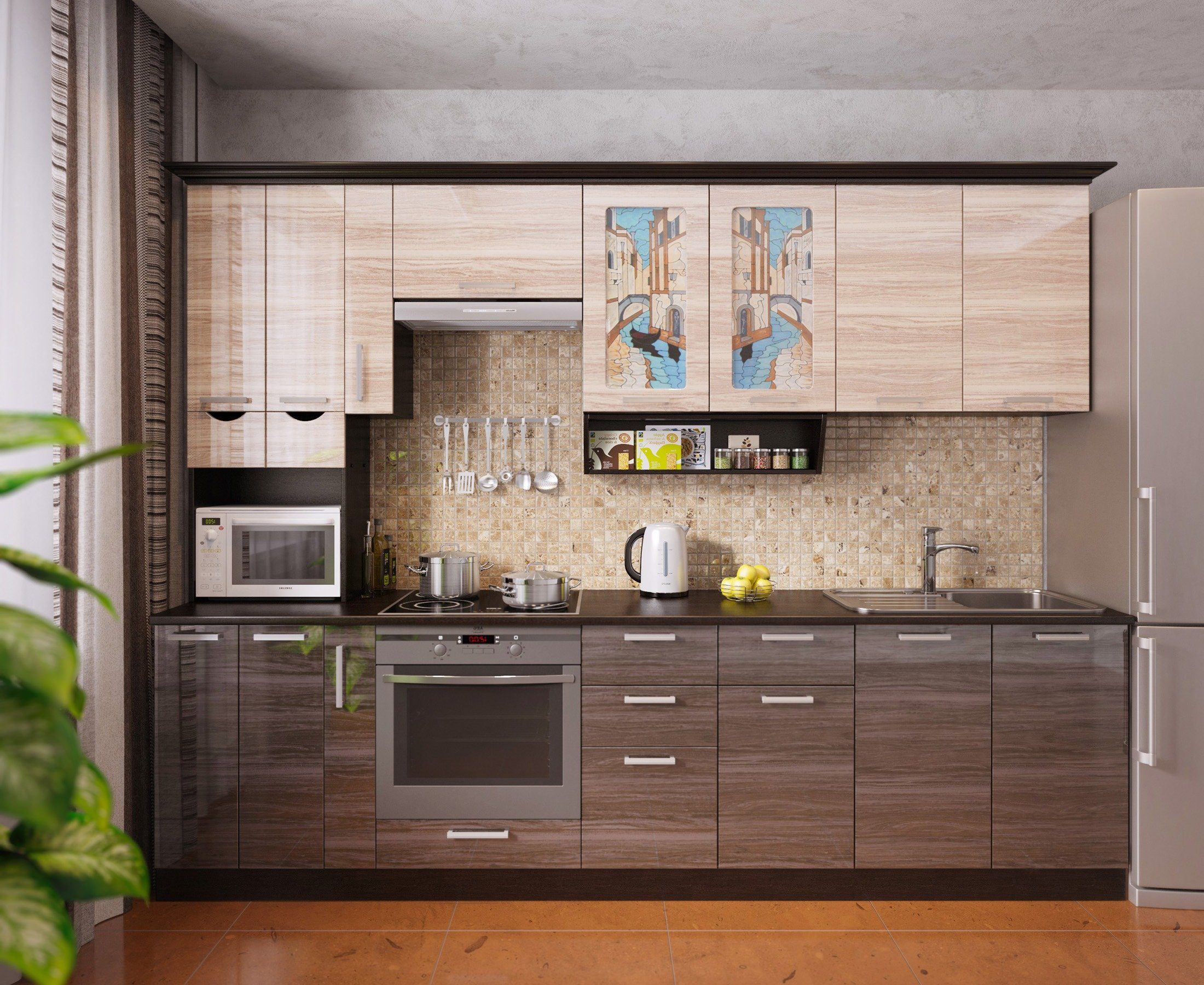 Кухня ВЕНЕЦИЯ-5, левая - правая