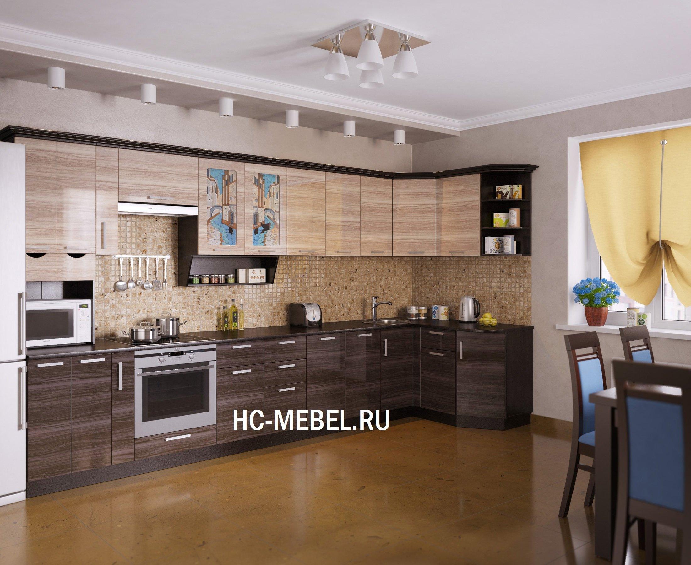 Кухня ВЕНЕЦИЯ-5 УГЛОВАЯ, левая - правая