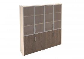 Шкаф комбинированный для руководителя Сенатор (2 витрины)