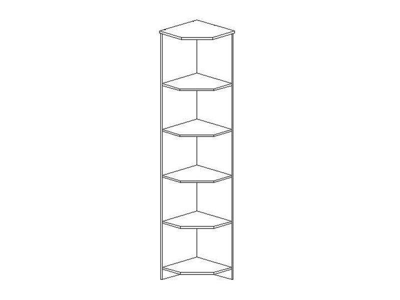 Полка торцевая Макарена-3 ПЛ-303 (венге/дуб беленый), ЛДСП