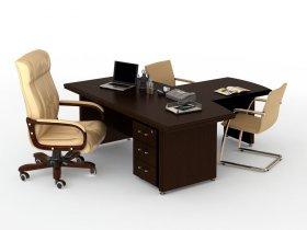Стол для руководителя с брифингом Магистр