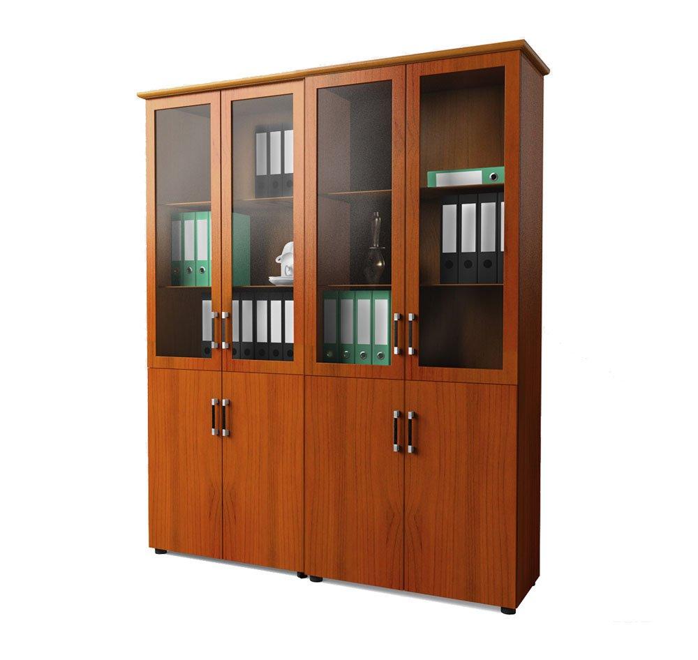 Шкаф-витрина для кабинета руководителя (2 шт с общим топом) Магистр