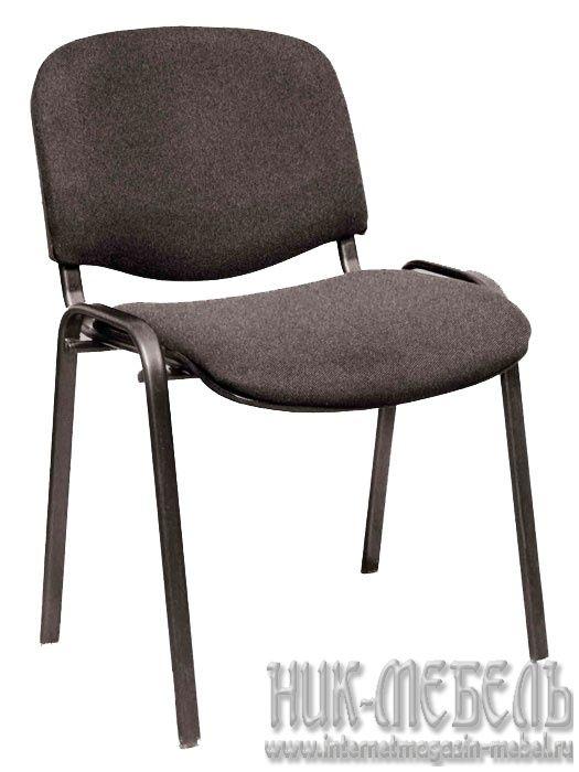 Офисный стул для посетителей Изо чер-каркас ткань