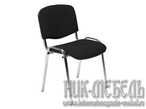 Офисный стул для посетителей Изо хром ткань