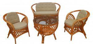 """Плетёная мебель:Комплекты для отдыха:Комплект для отдыха 01/19 """"Меланж"""""""