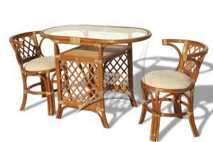 Плетёная мебель:Обеденные комплекты:Обеденный комплект 03/03