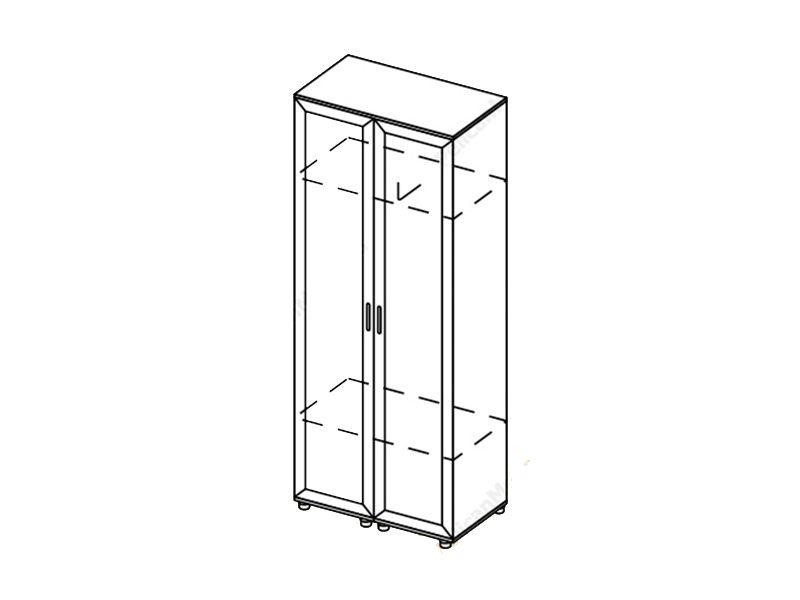 Шкаф 2-створчатый Визит, ШК (венге/дуб белфорд)