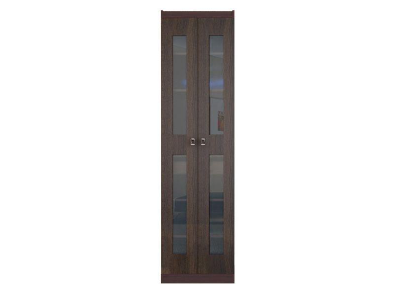 Шкаф для одежды со стеклом Шейла СТЛ.500+СТЛ.502 (венге)