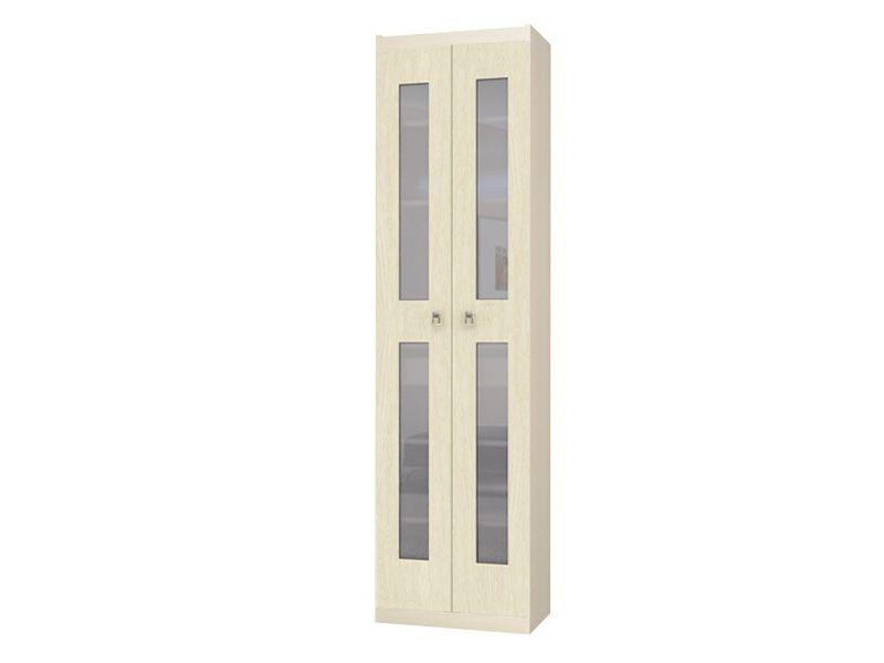 Шкаф для одежды со стеклом Шейла СТЛ.500+СТЛ.502 (дуб беленый)