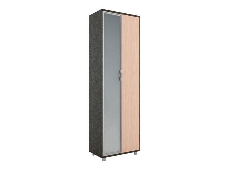Шкаф 600 WEST с зеркалом, модуль №4 (венге/дуб млечный)