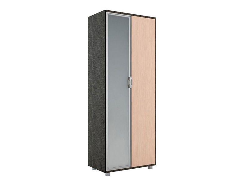 Шкаф 800 WEST с зеркалом, модуль №5 (венге/дуб млечный)