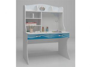 Детский письменный стол Ocean с надстройкой
