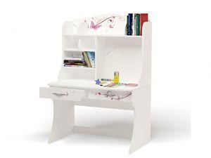 Детский письменный стол Фея со стразами Swarovski с надстройкой
