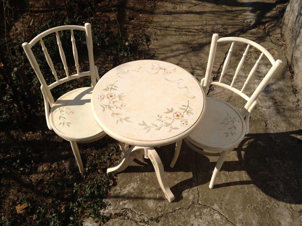 Кофейный столик и стулья Vintage