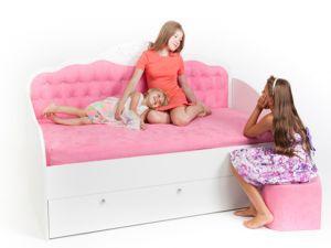 Детская мебель:Детские диваны:Детский диван-кровать Фея со стразами Swarovski