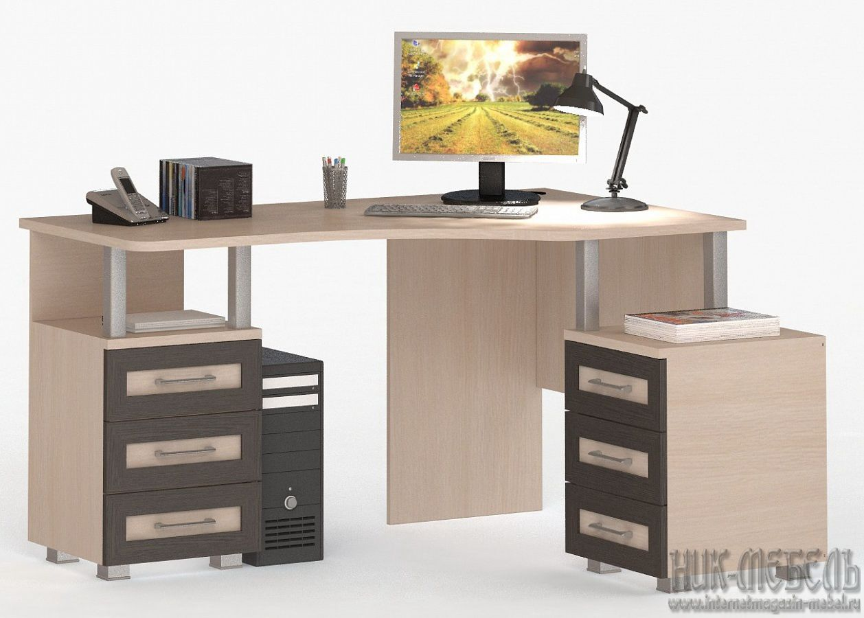 ВасКо-Компьютерный стол (Письменный) Соло-005