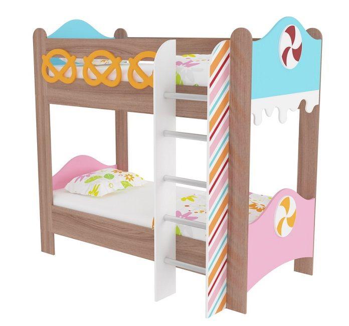 """Кровать двухъярусная """"Пряничный домик"""""""