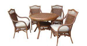"""Плетёная мебель:Обеденные комплекты:Обеденный комплект """"Ява"""""""