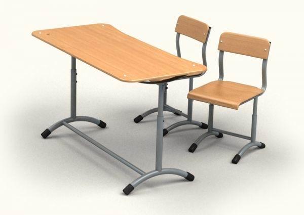 """Школьная мебель (стол ученический двухместный регулируемый """"ЭКСТРА"""")"""