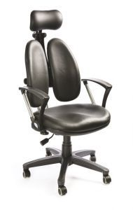 Кресло Bruno (черная экокожа)