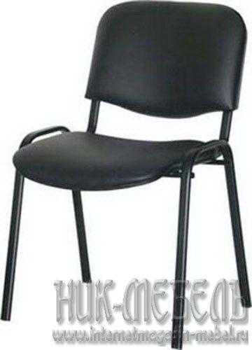 ДИК-Офисный стул для посетителей Изо чер.каркас кож-зам