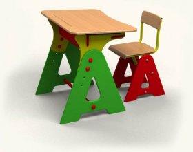 """Детская парта """"Азбука"""" (парта +стул)"""