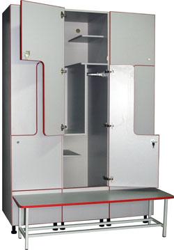 Шкаф для раздевалок МФ-3 (секционный)