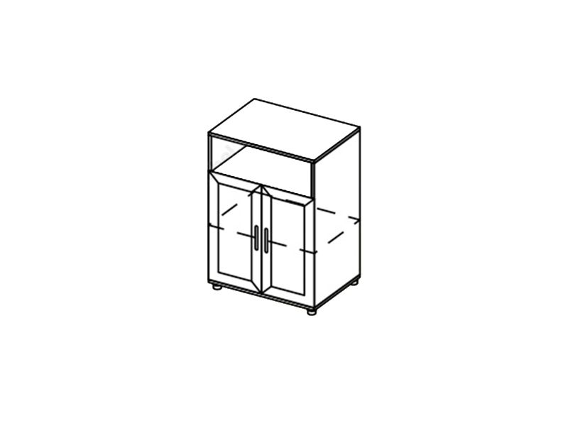 Тумба 2-х створчатая Визит, ТБ (венге/дуб белфорд)