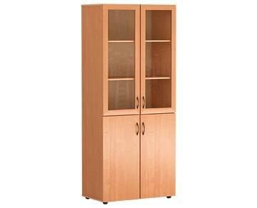 Шкафы для школы - шкаф широкий со стеклом