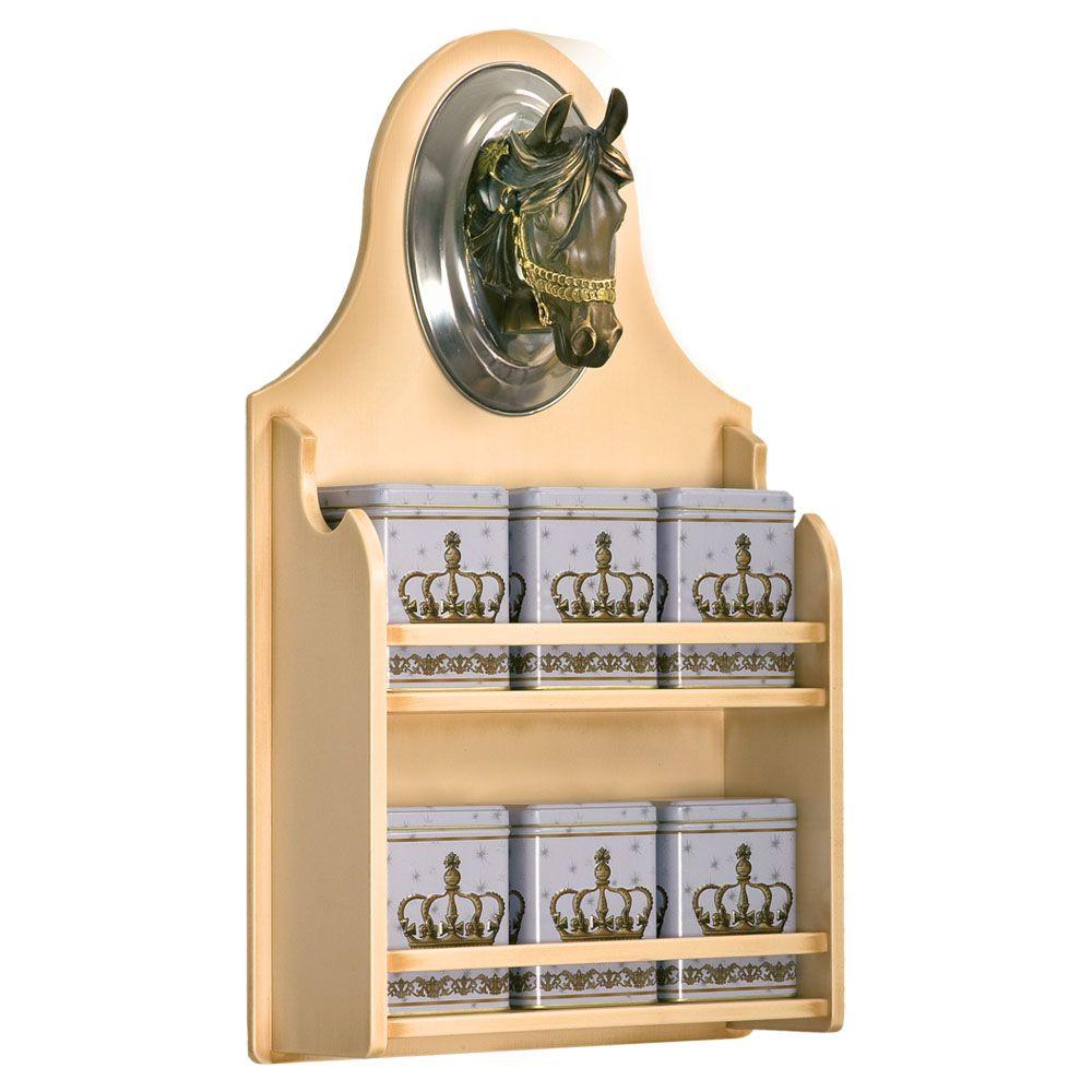 Полка настенная Дублин-11 (с набором из 6-ти жестяных банок)