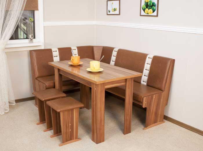 "Кухонный уголок ""Остин 5"" (диван + стол + 2 табурета)"