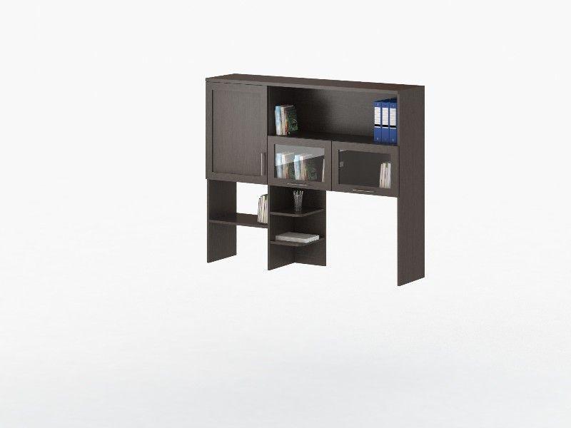 Надстройка для стола СОЛО 007 с фасадами Стекло (для столов СОЛО 005, СОЛО 021)