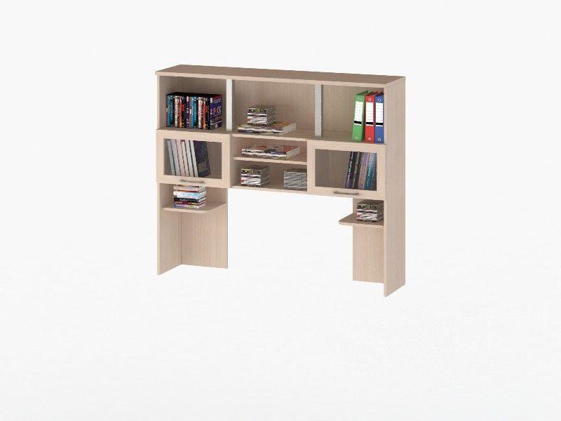 Надстройка для стола СОЛО 013 с фасадами СТЕКЛО (к столу СОЛО 21)