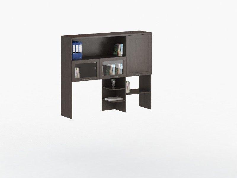 Надстройка для стола СОЛО 026 с фасадами СТЕКЛО (для столов СОЛО 021, 025)