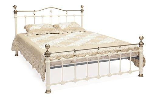 Кровать двуспальная белая Диана (Diana) + основание