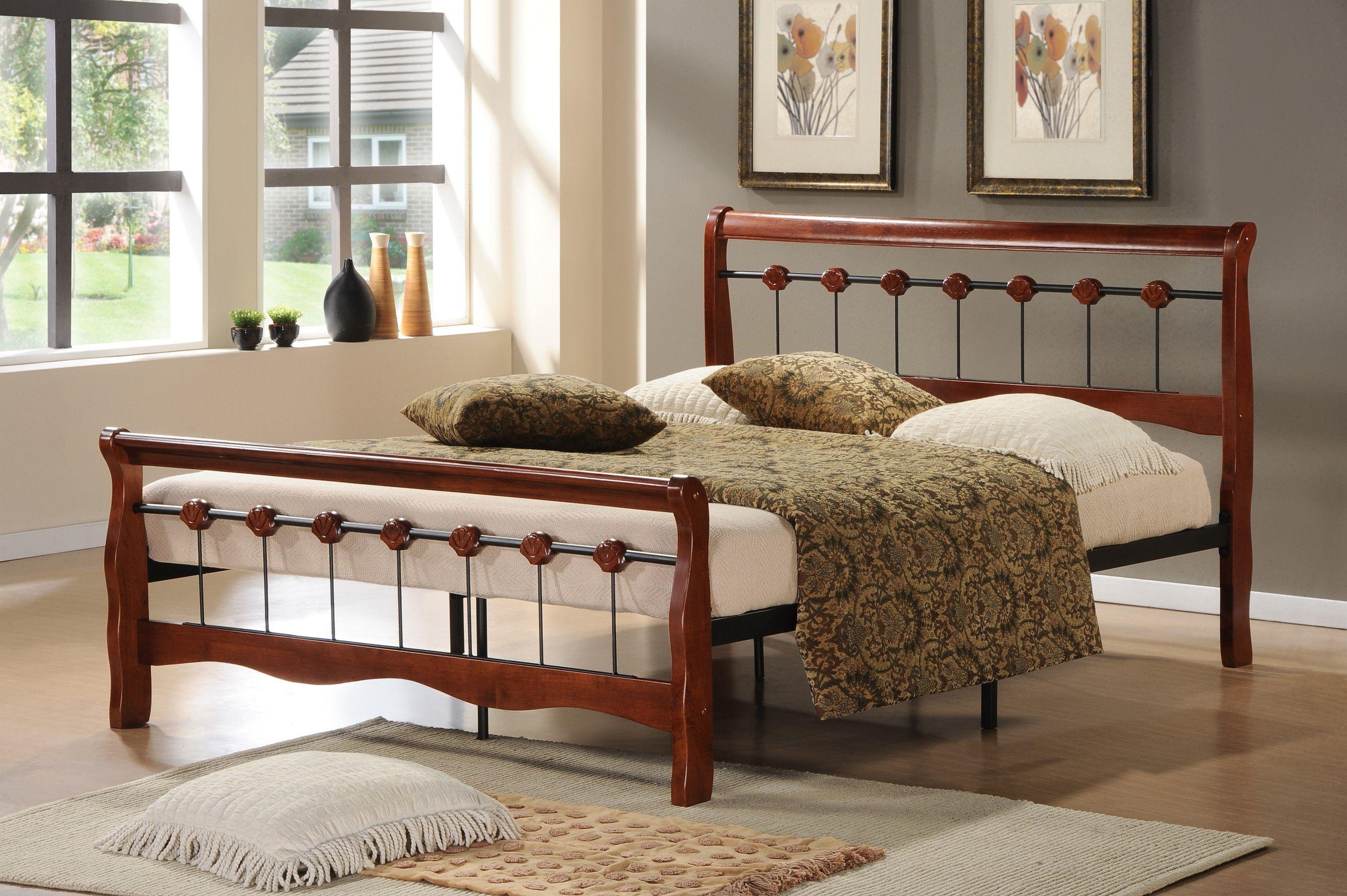 Двуспальная кровать AT 810 (метал- каркас) + основание