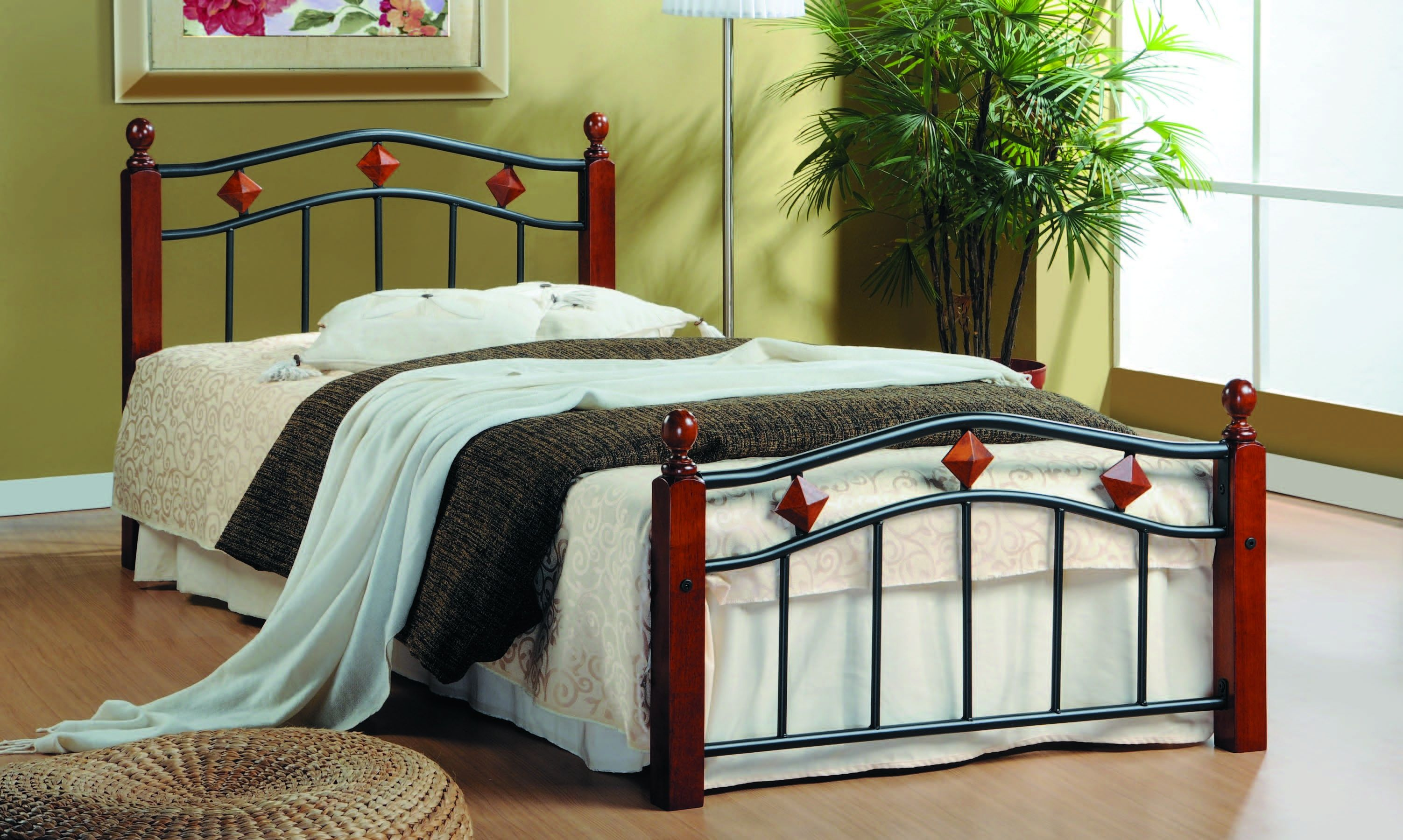 Кровать односпальная кованая AT 126 (метал- каркас) + основание