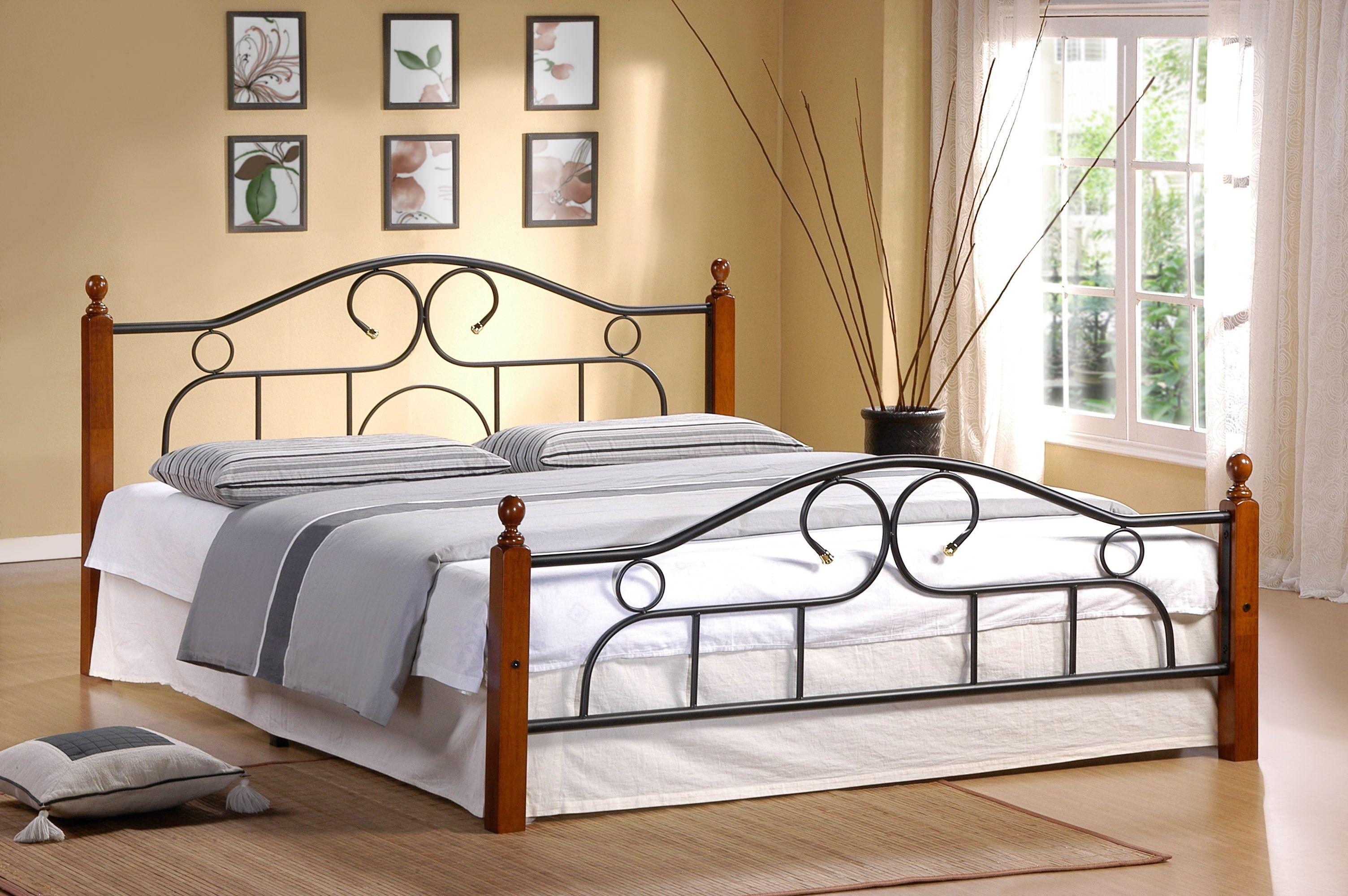 Металлическая кровать AT 808 (метал- каркас) + основание 2223