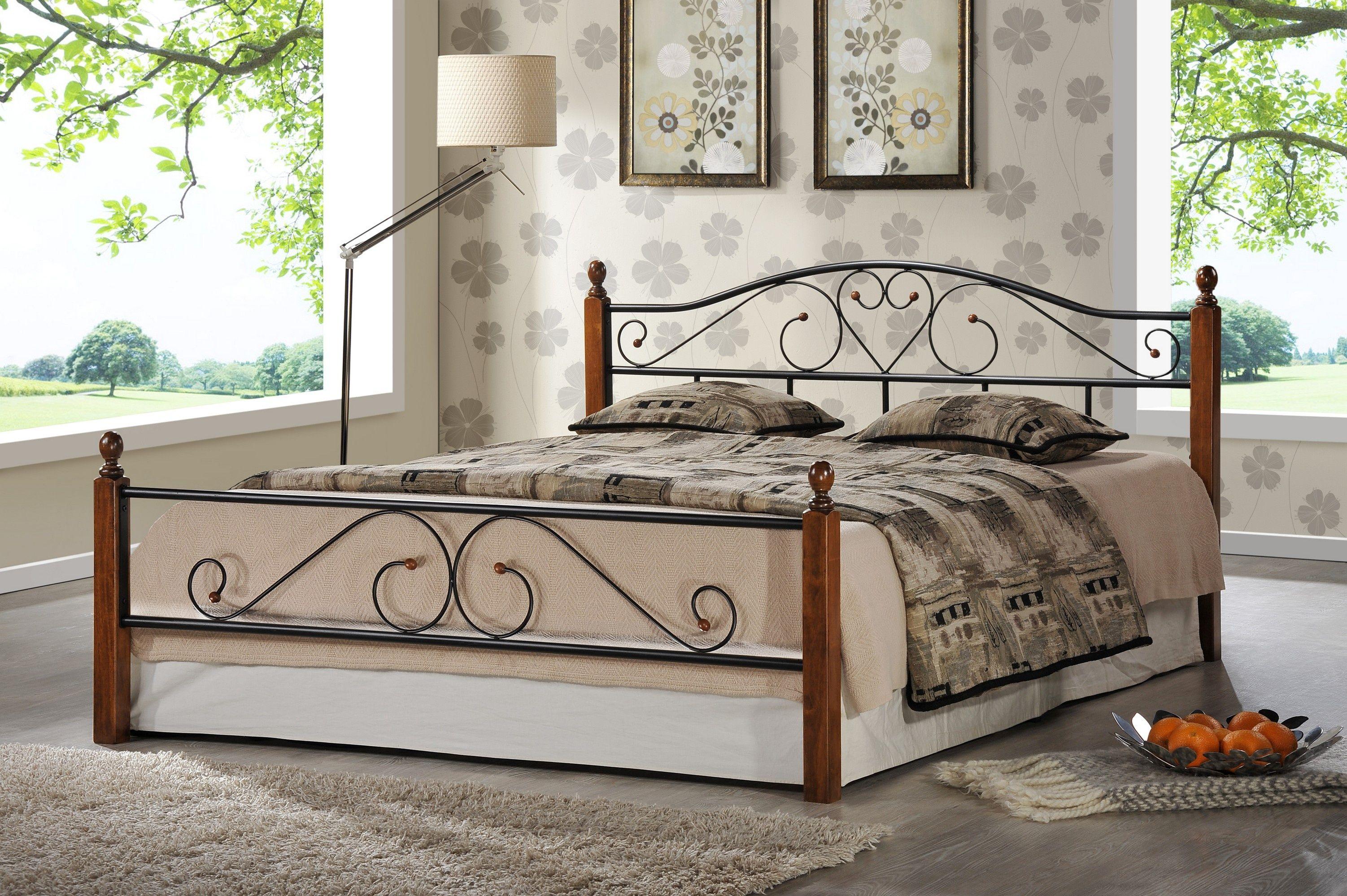 Кровать кованая AT 815 (метал- каркас) + основание 5281