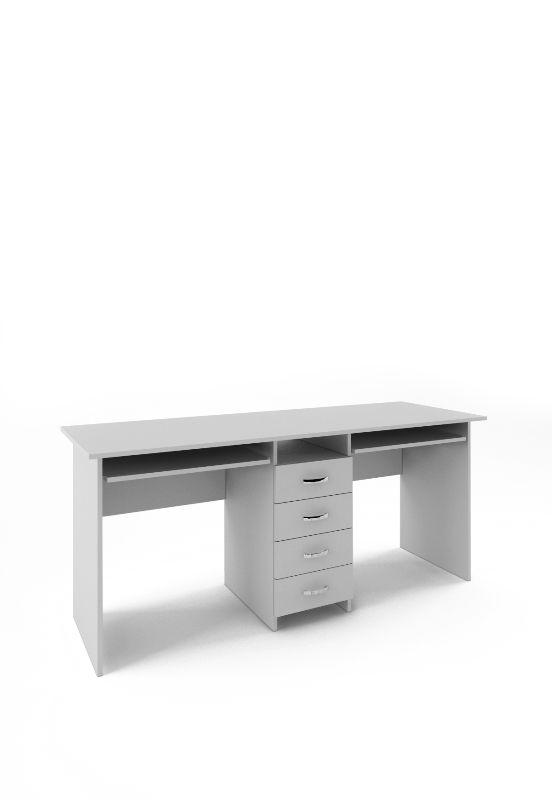 Стол письменный «Тандем-2П» белый