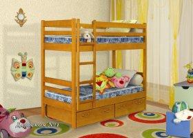 Кровать Детская 2-ярусная с ящиками