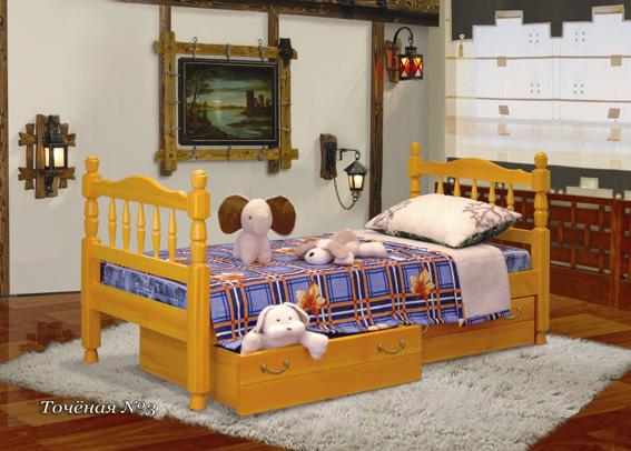 Кровать Детская 1-ярусная с ящиками