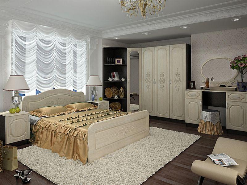 Модульная спальня Фиеста (венге/дуб беленый)