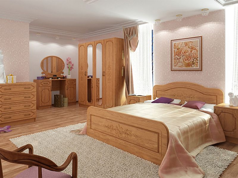 Модульная спальня Фиеста (миланский орех)