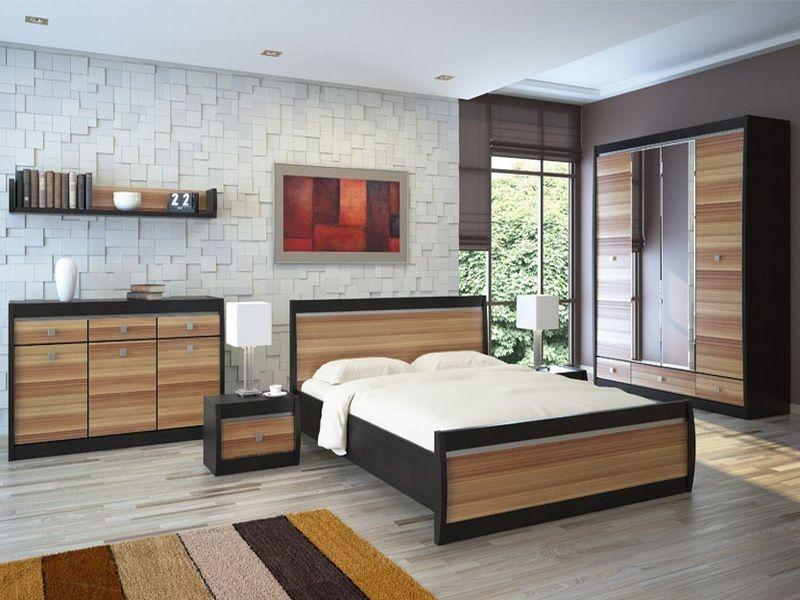 Модульная Спальня Ксено (Корсика) (дуб феррара/слива)
