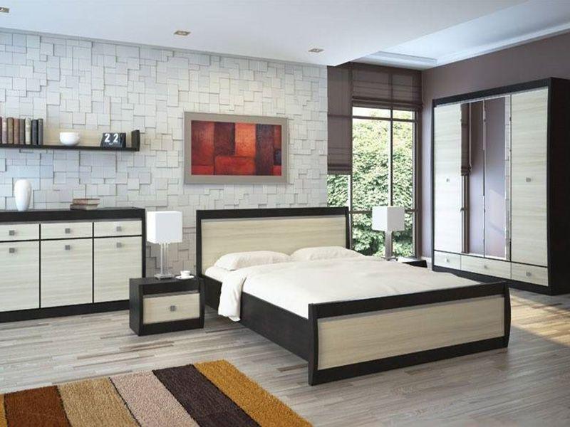 Модульная Спальня  Ксено (Корсика) (дуб феррара/ясень глянец)