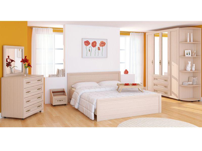 Модульная спальня Амелия (дуб млечный)