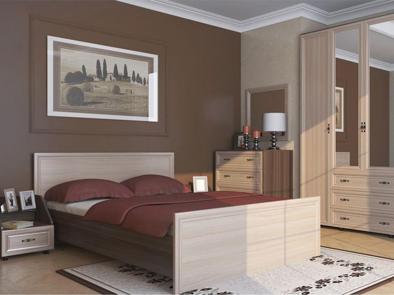 Модульная спальня Амелия (ясень шимо темный/ясень шимо светлый)